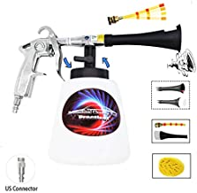 Practisol Car Interior Cleaner, Auto Detail Tools Car Detailing Kit(Needs Air Compressor) High Pressure Car Cleaning Gun Car Cleaning Kit for Vehicle Upholstery Carpet Seat