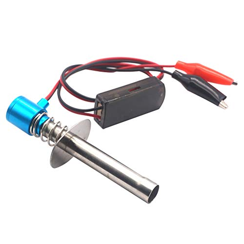 Share Goo RC Glow Plug Starter Igniter Ignitor Upgraded 6V-24V for 1/8 1/10 RC Nitro Model Car Buggy Truck Boat Helicopter,Blue