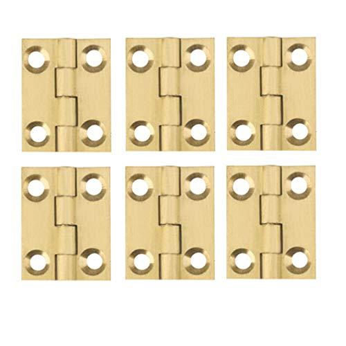 Garneck 6 Stück Türscharniere Flachscharniere Kupferkugellagerscharniere für Türfenster 1 Zoll