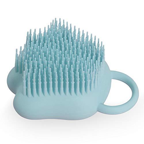 CXZC Cepillo de baño para bebé, de silicona ultrasuave, para niños, masaje, lavadora, portátil, con dispensador de jabón para bebés y niños, niños y niñas