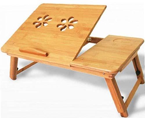 IUwnHceE Portátil Ajustable Turística De Bambú, Mesa De Ordenador Portátil para La Bandeja De La Cama Plegable Desayuno Bandeja para Servir con Cajón Amigos