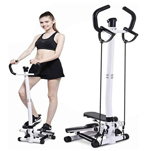 K-DD Twist Stepper mit Haltegriffen und Display zuhause und Büro Hydraulic Stepper, kompakt, Trainingscomputer mit Kalorienzähler, Beine Po Fitness, Ganzkörper-Training, abnehmen