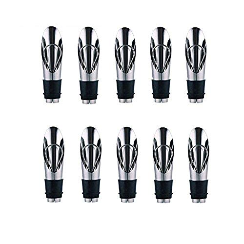 10pcs/lot 2-in-1 Wine Stoppers/Pourers Stainless Steel Wine Stopper Bar Pouring Device Wine Stopper Wine Guide Bottle Stopper
