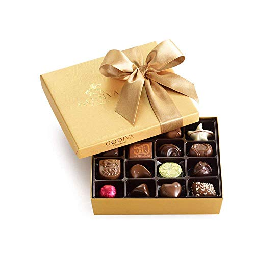 Godiva Chocolatier Classic Gold Ballotin Chocolate, Perfect Hostess Gift, Gifts for Her, Mothers Day Gift, Chocolate Lovers, 19 Count by Godiva Chocolatier