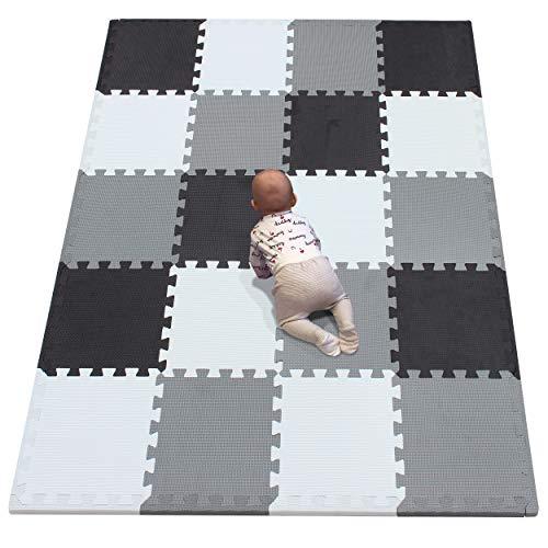 YIMINYUER Alfombra puzles para Bebe Puzzle Infantil Suelo Piezas Goma eva ninos de Suelo Grande Infantiles Bordes Blanco Negro Gris R01R04R12Z301020