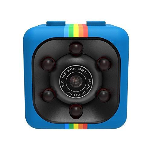 Mini cámara HD 1080P cámara visión Nocturna Mini videocámara Acción Kleine Cámara Secret espia Vigilancia Apoyo Ocultos TFCard, Azul