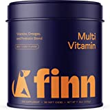 Finn All-in-1 Dog Multivitamin - Everyday Vitamin Supplement for Dogs with Probiotics, Omega-3s, Glucosamine + Chondroitin   Gut & Immune Health, Joint Support, Heart Health   90 Soft Chew Treats