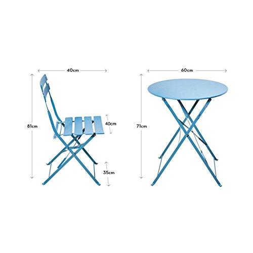 ZHBY Silla Taburetes Almohadillas Sillas altas Silla Balcón Muebles Hierro forjado Tres piezas Ocio al aire libre Simple Mesa de centro pequeña Combinación Patio al aire libre Terraza Mesa y sillas p