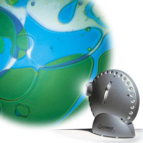 Mathmos Space Projector Argent avec Disque à Huile - Bleu/Vert