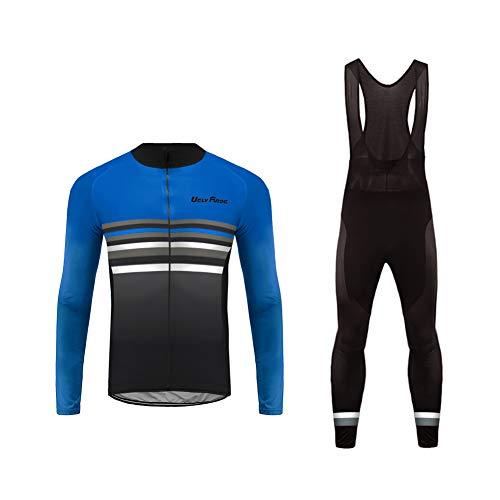 UGLY FROG Uglyfrog Veste Cycliste Homme Noir et Maillot Cyclisme Manches Longues Ultra-léger et Respirant Cycling Jersey Z05