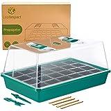 1 Semilleros de Germinación | Juego de Cultivo para 24 Plantas | Germinador de Semillas | Orificios Ajustables para una Humedad Ideal | Bandeja para Germinar Plantas y Vegetales | Mini Invernadero