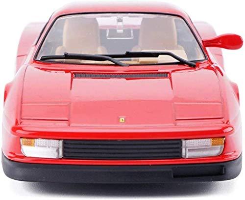 Llpeng Modelo de Juguete Coche Modelo de Coche 1:24 Ferrari Testarossa Simulación de aleación de fundición a presión de joyería Juguete Adornos Colección Coche de Deportes de 19x9x4.7CM