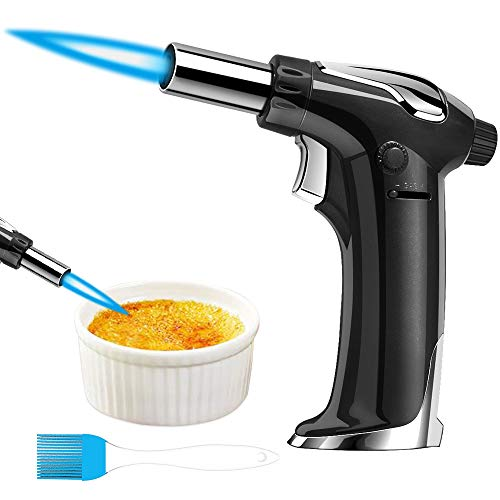Remunkia Butane Torch: Kitchen Blow Torch Refillable Cooking Torch Lighter for Creme Brulee, Baking BBQ (Butane Gas Not Included)