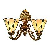 AWCVB Lampe Murale Pépinière Baroque Lampe Murale Lampe De Style Tiffany Lumineux avec Une Nuance De Verre Vintage De 6 Pouces pour La Chambre Salon