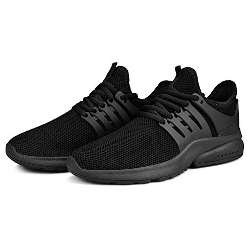 QANSI Womens Athletic Tennis Shoes Non Slip Walking Shoes Lightweight Breathable Black Running Sneakers Black 8 M US