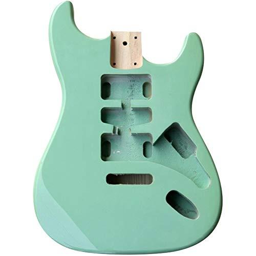 Katigan Corpo della Chitarra Elettrica ST Colore Verde Chiaro nel Legno per La Sostituzione del Corpo della Chitarra DIY