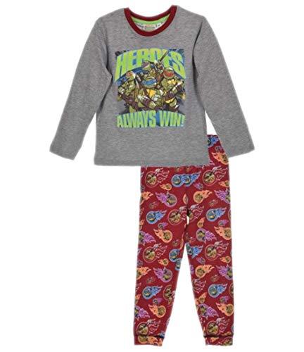 Ninja Turtles Boys Pyjama Set Long Sleeve - 2-3 Years - Grey