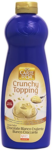 Carte D'Or - Crunchy Topping - Sirope sabor chocolate blanco crujiente - 900 ml