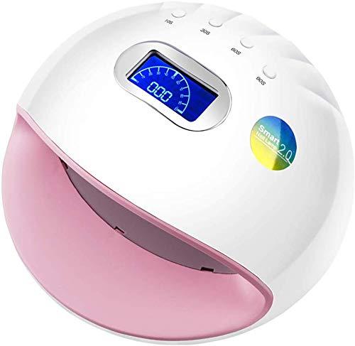 LIANYANG Lámpara de luz para uñas 72W 30Leds UV LED Esmalte de uñas Curado para Todos los secadores de uñas de manicura en Gel con Sensor automático LCD 10S/30S/60S/90S Temporizador