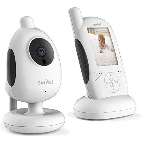 Switel BCF877 Video Babyphone, 6 cm LCD-Farbscreen, automatische Nachtsichtaktivierung, Geräuschaktivierung, Schlaflieder, 2.4 GHZ