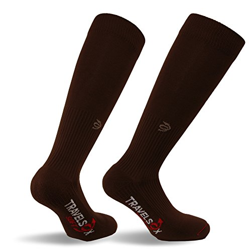 Travelsox TSS6000 The Original Patented Graduated Compression Performance Travel & Dress Socks With...