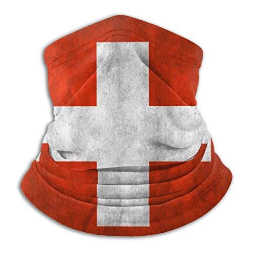 XXWKer Microfibre Chapeaux Tube Masque Visage Tour de Cou Cagoule, Vintage Switzerland Flag Men & Women Face Neck Warmer Headwear For Snowmobile