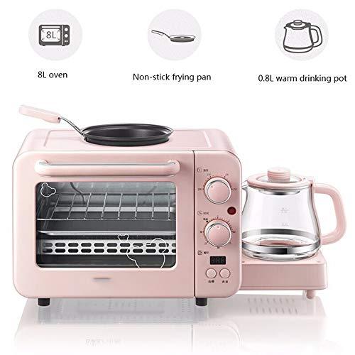 Brood Machine, 3 in 1 Broodroosters Huishoudelijke Multi-Function Machine Brood 8L elektrische oven + koekenpan + Warm Drink All-In-One Machine