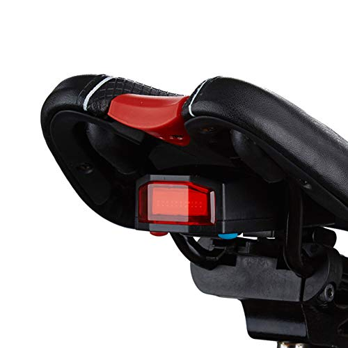 SSSabsir Bicycle Tail Light Smart Alarm Lock with Remote Bike USB Charging and Waterproof