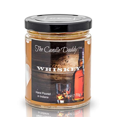 Whiskey (Bourbon) Hand Poured Spot on Scent Up to 40 Hour Burn Time Easy access to wick all the way down The Candle Daddy Candles- Handpoured in Indiana