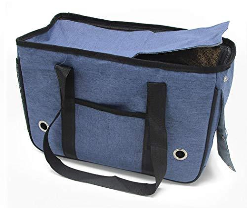 AZLLY Tragbare Haustier-Tragetasche für Hunde und Katzen, zusammenklappbar, für kleine Tiere, Welpen, Katzen, faltbar, e, M