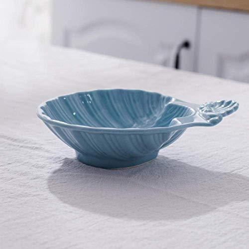 WSJ Dekorationen Art Craft Ocean Keramik Geschirr Desserts Muscheln Snackteller Teller Haushalt Geschirr 2