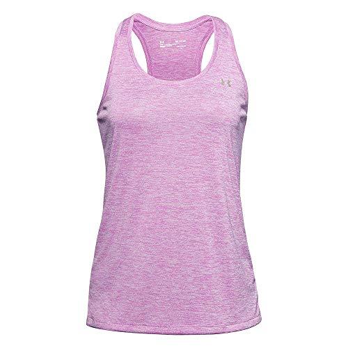 Under Armour Tech Tank - Twist, Camiseta de Tirantes, Camiseta Deportiva Mujer, Lila (Polar Purple/Crystal Lilac/Translucent(537)), XS