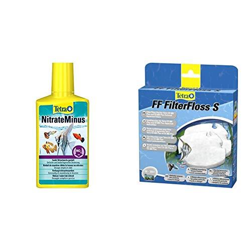 Tetra NitrateMinus (zur dauerhaften Senkung des Nitratgehalts und zur biozidfreien Algenkontrolle), versch. Größen & FF FilterFloss S - Feinfiltervlies EX Außenfilter