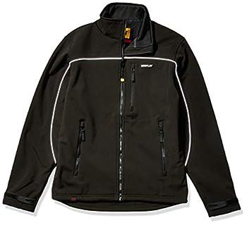 Caterpillar Men s Soft Shell Jacket  Regular and Big & Tall Sizes  Black X Large