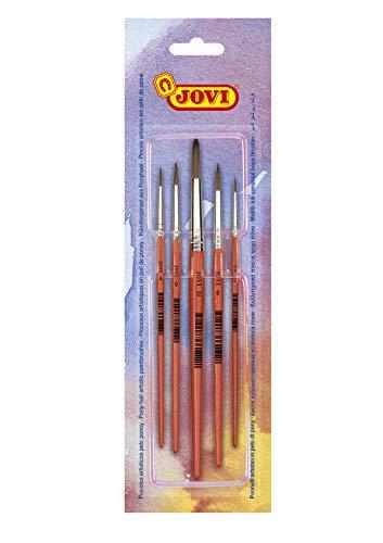 Jovi- Pinceles artisticos Pelo poney, Unica (8185)