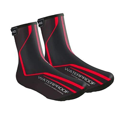 Lixada Überschuhe Fahrrad Regenüberschuhe Schuhüberzug Schuhschutz Wasserdicht Winddicht Leichter Thermo Overshoes zum Radfahren Rennrad MTB Fahrrad