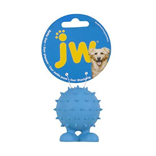 JW Pet Spiky Cuz Assistant Toy Tough Squeaker Erratic Bounce Multicolor Small