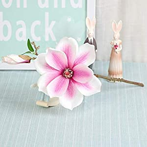 Artificial and Dried Flower 5pcs/lot Artificial Silk Flower Orchid Branch Magnolia Fake Flower Wedding Decoration Living Room Home Decoration Orchid Flowers