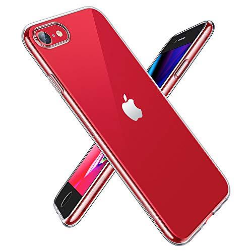 EONO by Amazon iPhone SE/8/7 Hülle, Transparent Durchsichtig [Ultra Dünn] Klar Weiche TPU Schutzhülle [Kabelloses Aufladen Unterstützung] für iPhone SE/8/7 4.7 Zoll (2020) Freigegeben.-Klar