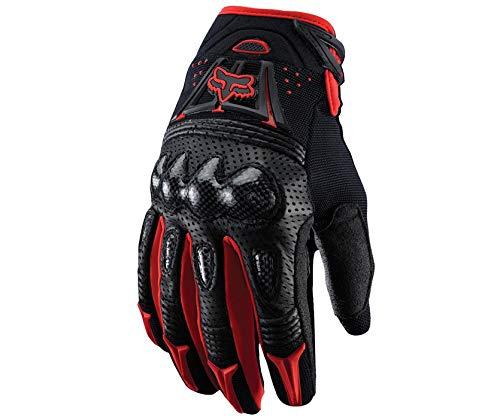 LybGloves Motorrad Handschuhe Motorrad Harte Schale Handschuhe im Freien Cross Country Handschuhe Reiten Handschuhe, rot, M