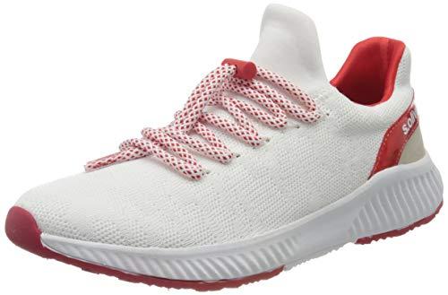 s.Oliver Damen 5-5-23600-34 Sneaker, Weiß (White/Red 155), 39