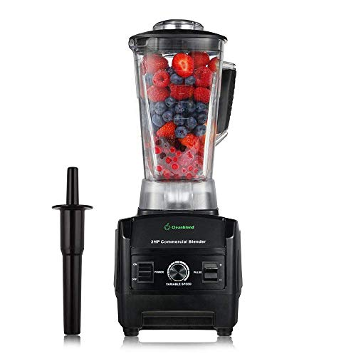 Cleanblend Commercial Blender - 64 Oz Countertop Blender 1800 Watt Base - High Performance Ice...