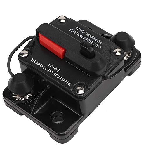 Zekering voor stroomschakelaar, 12V 30A / 40A / 60A autoradio terugstelbare inline zekering voor vermogensschakelaar ter zelfherstelling, ter bescherming van de autoradio- en videosystemen. 60A default