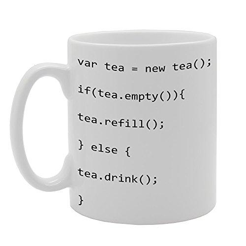 Lenguaje de programación mg381té regalo impreso té café taza de cerámica