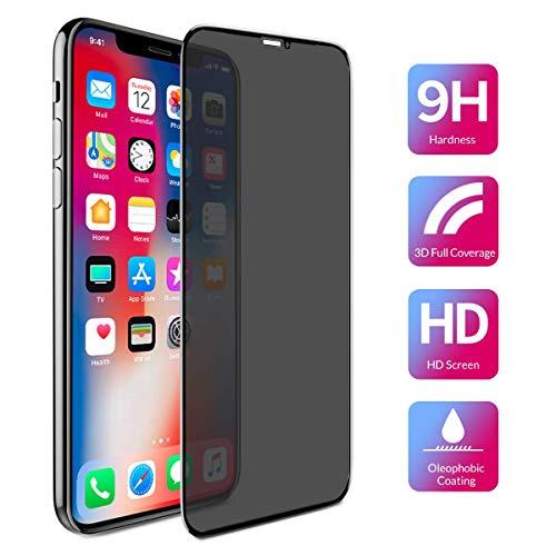 BENKS Panzerglas Schutzfolie für iPhone 11 Pro/XS/X Anti-Spähen, Gehärtetem Glas Blickschutzfolie mit 3D gebogen Kanten Vollständige Abdeckung Anti-Spy Sichtschutz 0.3mm für iPhone 10 5,8 Zoll