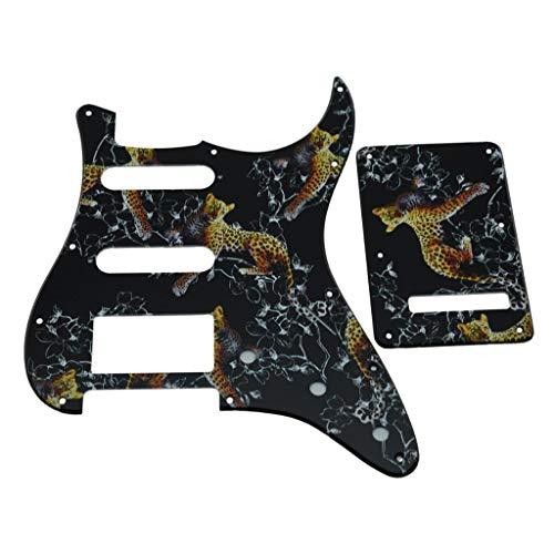 Kaish Strat HSS - Golpeador de plástico con impresión 3D para guitarra ST/Trémolo cubierta para Estados Unidos / Mexicano Fender Strat