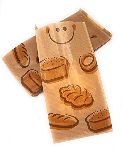 Bolsas papel kraft para bocadillo 14+7x27 cm CON DIBUJO PANES (250 uds)