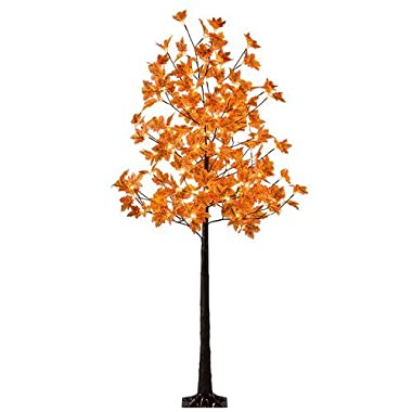 Lightshare LED Lighted Maple Tree - Dotted with 120 Warm White LED Lights, 5.5 ft, Yellow