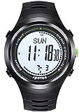 spovan Multifunción Al Aire Libre Reloj Deportivo Digital con Podómetro Altímetro Barómetro Brújula Correa de Goma