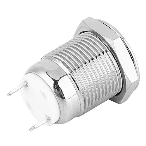 2 pines 5 piezas Interruptor de botón de metal 1 normalmente abierto para arrancadores electromagnéticos(short hair, pink)